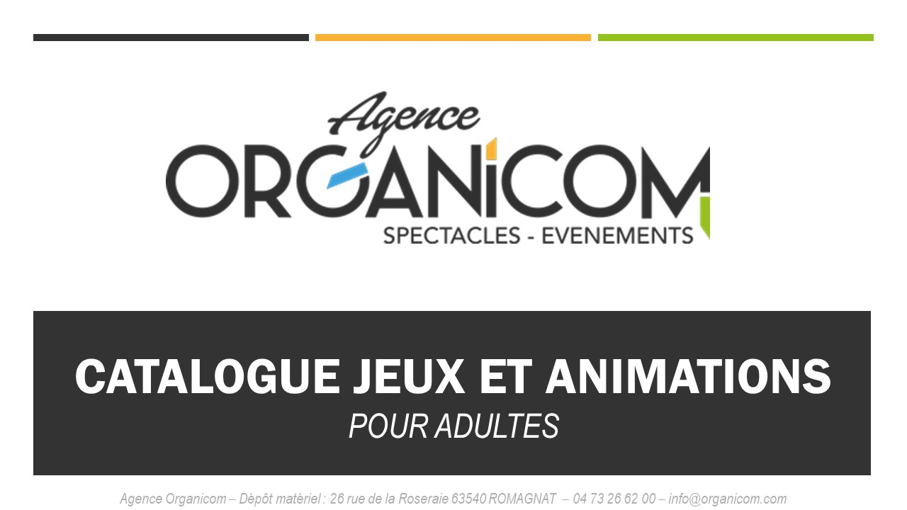 CATALOGUE JEUX ET ANIMATIONS ADULTES